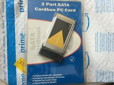 2 Port SATA Cardbus PC Card • 10£