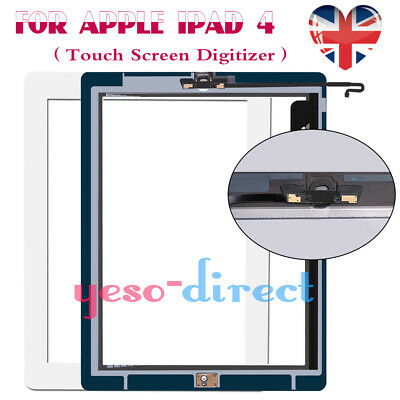 For IPad 4 A1458 A1459 A1460 White Touch Screen Digitizer Glass Replacement &IC • 8.99£