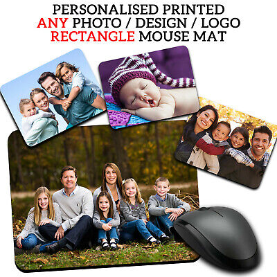 PERSONALISED Family Photo Picture Mouse Mat Pad Computer Gaming Non Slip Rubber • 3.99£