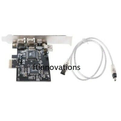 Firewire Card Adapter 1394A PCI-e 1X IEEE 4 Port (3+1) With 6 To 4 Pin Cable • 9.99£