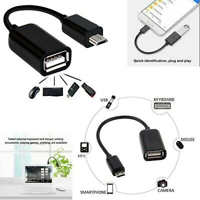 Micro USB Male Host To USB Female OTG Adapter Cable For Android Phones Tablet PC • 2.10£