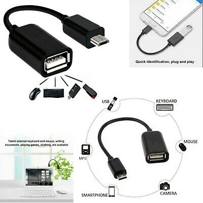 Micro USB Male Host To USB Female OTG Adapter Cable For Android Phones Tablet PC • 1.49£