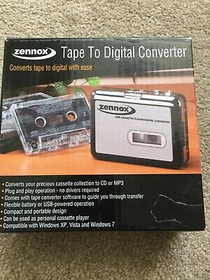 Zennox Tape To Digital Converter  Tape Recorder USB Plug And Play • 14.99£
