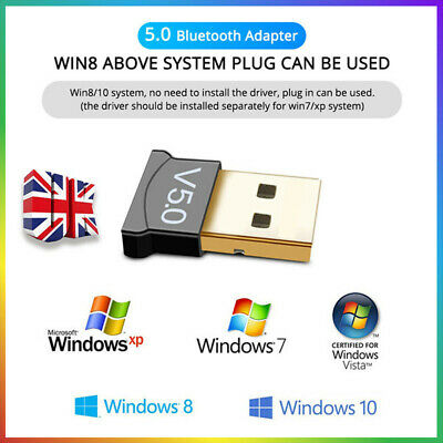 Mini USB Bluetooth Adapter Wireless Dongle V5.0 CSR For Win 7 8 10 ForPC Laptop • 3.97£