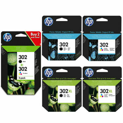 Genuine HP 302 & 302XL Ink Cartridges F6U66AE F6U65AE X4D37AE F6U68AE F6U67A Lot • 40.89£