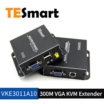 TESmart KVM VGA Extender Network  Over Single Cable With CAT5e/6 USB UP TO 300M • 59.99£