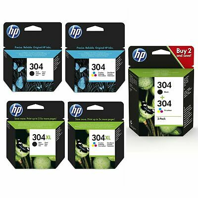 Genuine HP 304 - 304XL Black & Colour Ink Cartridge For DeskJet 2632 Printer Lot • 29.55£