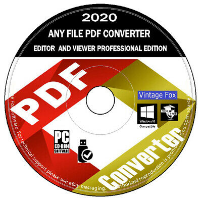 PDF Editor Converter Viewer - Save Edit Open Convert Professional Edition PC DVD • 2.46£
