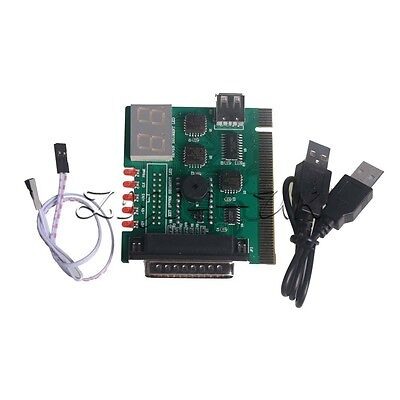 USB PCI PC Notebook Laptop Motherboard Analyzer Diagnostic POST Card Tester • 5.24£