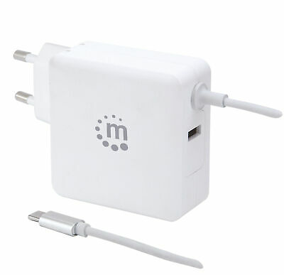 Manhattan Charger 60W USB With Cable Usb-C White • 33.33£