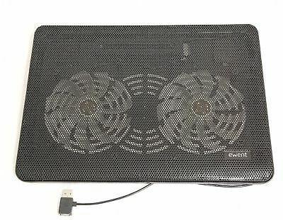 Ewent USB Notebook Cooling Pad With 2 Fan To 17 Inch (43,2 CM) • 29.43£