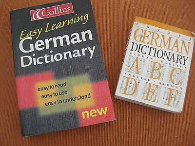 2 German Dictionaries: Collins Easy Learning Paperback & Pocket German/english  • 1£