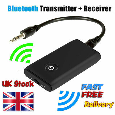 Wireless Bluetooth 5.0 Transmitter Receiver A2DP 3.5mm Audio Jack Aux Adapter • 7.13£