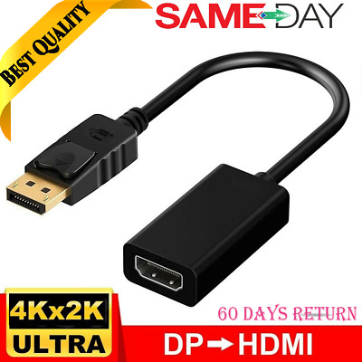 4k HD Display Port DP To HDMI Female Cable Adapter Converter For PC Laptop HDTV • 4.25£