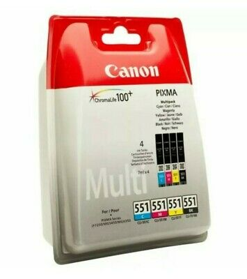 Multipack Of 551 Genuine Original Printer Ink Cartridges For Canon Pixma! NEW! • 25.99£