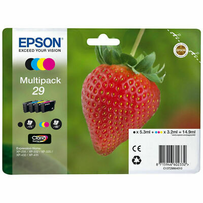 Genuine Epson 29 Multipack B/C/M/Y Ink Cartridges (T2986) | FREE 🚚 DELIVERY • 29.95£