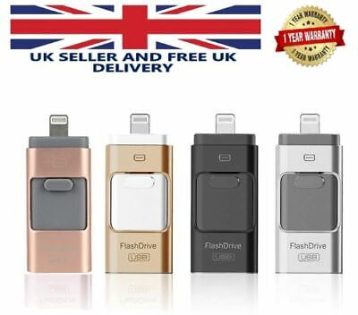 USB Storage Memory Stick I-Flash Drive 32 64 128 GB OTG Disk For IPhone X8 7 6 5 • 6.99£