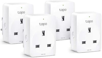TP-Link Tapo Smart Plug Wi-Fi Outlet, Works With Amazon Alexa Pack Of 4 • 32.99£