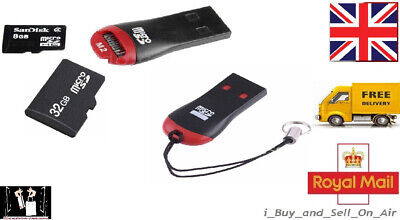 USB 2.0 Mini Micro SD T-Flash TF Memory Card Reader. FREE & FAST • 1.50£
