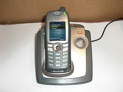 Cisco 7921G IP Wireless Phone With Charger CP-DSKCH-7921G CME CUME • 27.99£