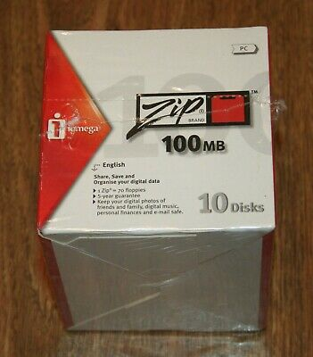 Iomega ZIP 100MB - PACK Of 10 DISKS - BRAND NEW - SEALED. • 44.95£