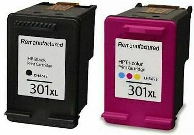 Refilled HP 301XL Black And HP 301 XL Colour Cartridges For Use With HP • 24.99£