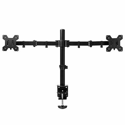 Emperial Dual Monitor Mount - Double Arm Desk Clamp Stand For 13-32  VESA Screen • 17.99£