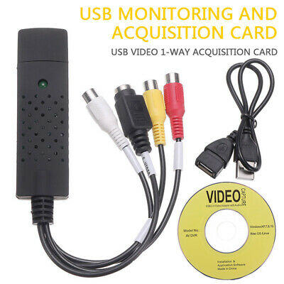USB 2.0 Interface To 3 RCA Female Phono S-VIDEO Output Cable AV Capture Adapter • 6.40£