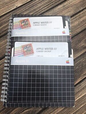 Apple Computer Vintage Applewriter III Software And Manual • 30£