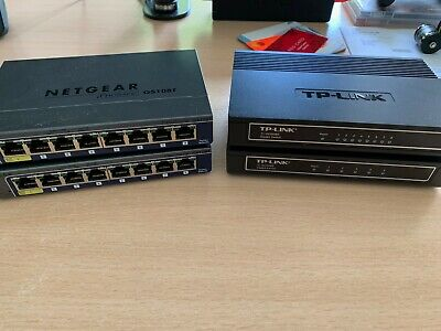 2 X TP-Link & 2 X Netgear ProSafe Switches - Job Lot! • 0.99£