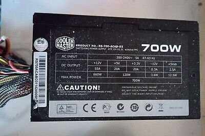 COOLER MASTER 700W Power Supply - RS-700-ACAB-D3 • 56.80£