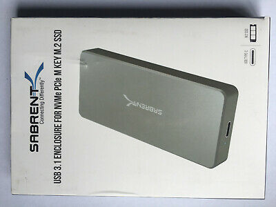 Sabrent USB 3.1 Enclosure For NVMe PCIe M Key M.2 SSD • 14.60£