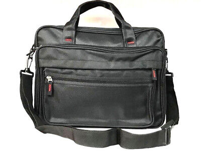 Zipped Document Laptop Messenger Shoulder Bag Briefcase Work Travel Office Strap • 11.99£