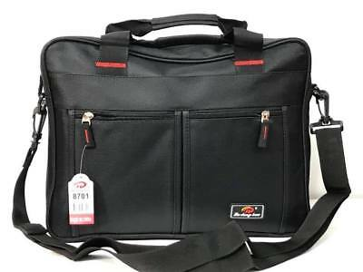 Black Laptop Bag Shoulder Bag Messenger Briefcase Work Travel Office Document • 11.99£
