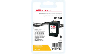 Office Depot Compatible HP 301 Ink Cartridge CH561EE Black • 9.95£