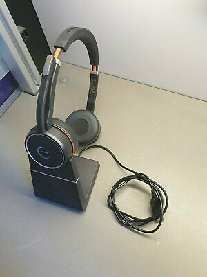 Jabra Evolve 75 MS Stereo Wireless PC Headset With Charging Stand 7599-832-199 • 50£