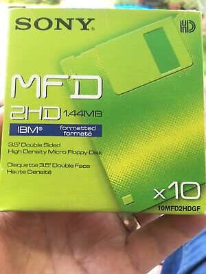 """Sony MFD 2HD 1.44mb 3.5""""double Sided High Density Micro Floppy Discs  • 1.60£"""