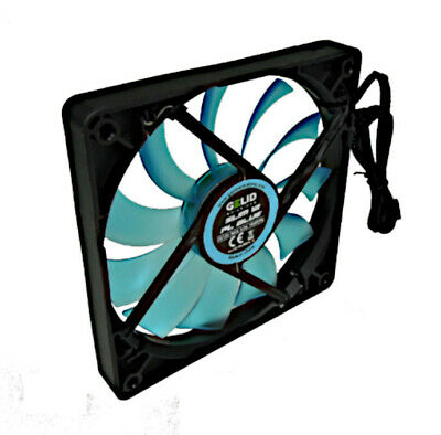 Gelid Fan Slim 120x120x15, 8 12V Pl Blue • 17.76£