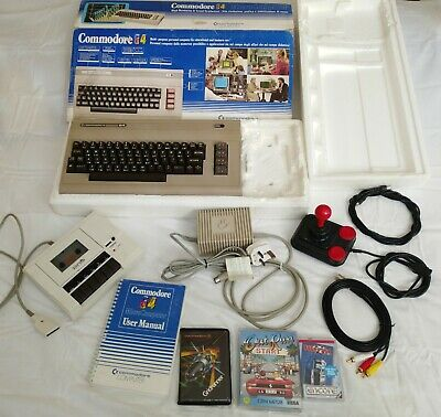 Commodore 64 Excellent Condition, Datasette, Games, Cables, Tested / Working • 54£