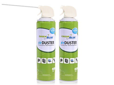 2x Air Duster Spray Gas Cleaner 2x 600ml Compressed Dust Blower Easy Cleaning UK • 11.08£