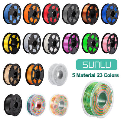 SUNLU 3D Printer Filament ABS PLA PETG PLA+ SILK 1.75mm 1KG/2.2lb Spool Printing • 23.99£