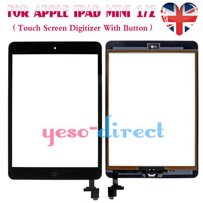 Touch Screen Digitizer For IPad Mini Replacement 1/2 Glass Black IC Home Button • 8.69£
