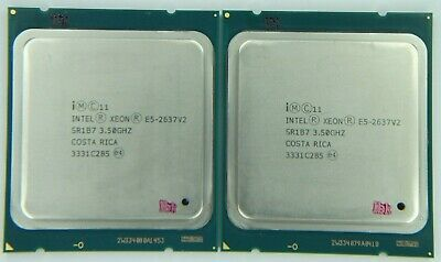 Matched Pair Of Intel Xeon E5-2637 V2 4-Core 3.50GHz SR1B7 Processor W/Grease • 45.35£