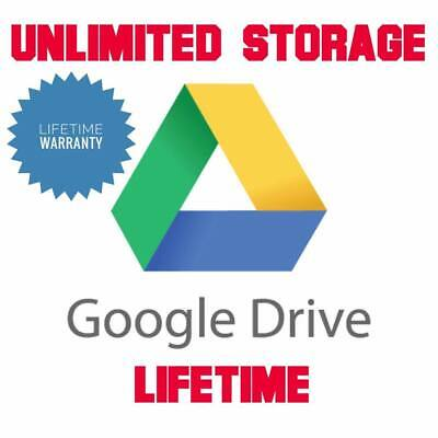 Google Drive Unlimited Storage With Your Personal Gmail For Unlimited Time OEM • 17.99£