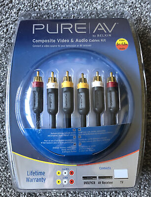 Pure AV Composite Video & Audio Cables Kit • 11.99£