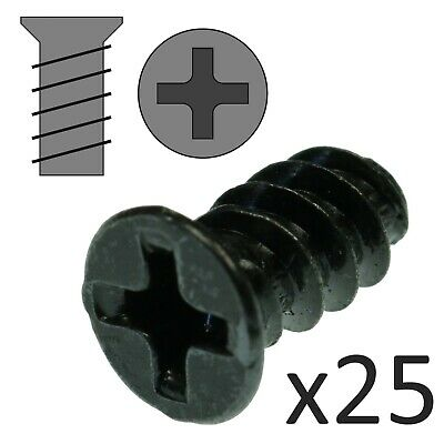 Computer Fan Screws X25 - 10mm Length Black Case Exhaust Screws • 2.45£