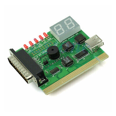 Computer PC Motherboard With Light Analyzer Error Code PCI Diagnostic Card USB • 5.03£