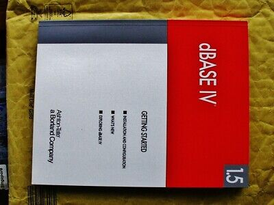Borland DBase IV V1.5 Manuals Ashton-Tate DBase 2 To 5 With DOS Compilers DBMS • 104.50£