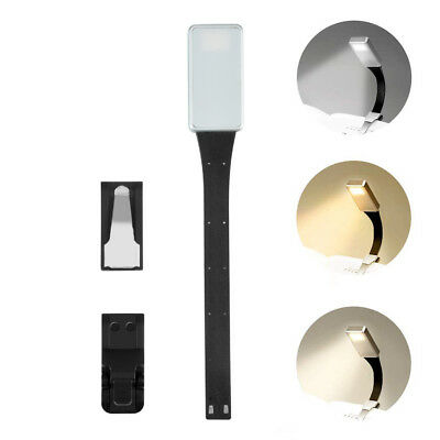LED Book Light Flexible Clip Reading Lamp USB Rechargeable For Bedroom,UK STOCK • 8.39£