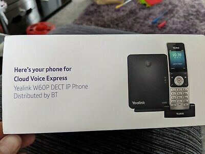 Yealink W60P Dect IP Cordless VOIP Phone With Base Station BT Box Unused • 22£